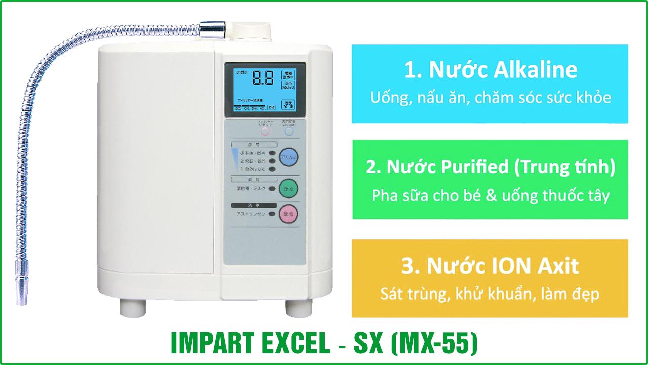 MÁY LỌC NƯỚC ION KIỀM EXCEL-SX (MX-55)